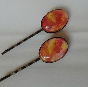 Fire hair pin set
